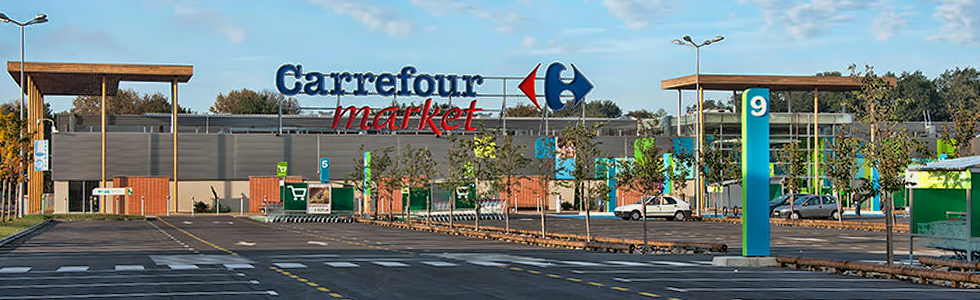 Construction neuve d'un magasin CARREFOUR MARKET